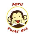April 1 fools day cartoon icon vector image