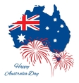 Happy Australia Day design Map of vector image