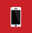 mobile phone on red background vector image