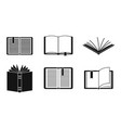 open book icon set simple style vector image