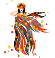 The women of Autumn season vector image
