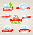 Winter labels set vector image