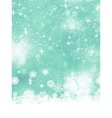 Christmas blue background with snow flakes EPS 8 vector image vector image
