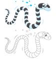 Sea snake vector image vector image