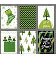 Collection of 6 Christmas card templates vector image