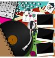DJ party design vector image