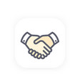 handshake icon partnership shaking hands vector image vector image