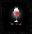 glass of wine sign vector image