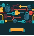 Seamless pattern with locks and keys icons vector image vector image