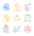 colored groups outline various garbage separate vector image