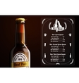 Menu template for beer and alcohol vector image