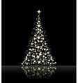 christmas background black vector image