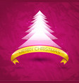 Abstract Merry Christmas background with tree vector image
