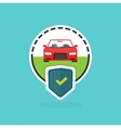 Car insurance logo isolated automobile protected vector image vector image