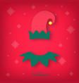 avatar of a christmas elf merry christmas vector image