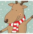 cartoon cute deer vector image
