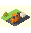 forklift truck stacker vector image