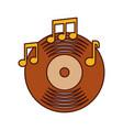 music vinyl disk note album sound vintage vector image
