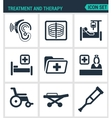 Set modern icons Treatment and therapy vector image