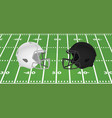 white and black american football helmet vector image