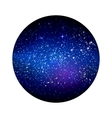 Outer space starry design vector image