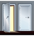 Opened and Closed Vault Door vector image vector image