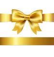 Gift Satin Bow vector image