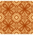 Arabian seamless background in brown color Vinatge vector image