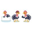 Turkey Mascot happy vector image