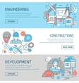 Engineering And Constructions Banners Set vector image