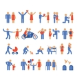 Assortment of Family and Couple Pictogram Icons vector image
