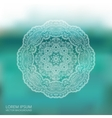 Circle lace ornament mandala blur background vector image