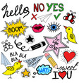 collection of doodle speech bubbles and design ele vector image