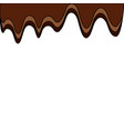 melted chocolate sugar cocoa image vector image