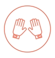 Motorcycle gloves line icon vector image
