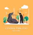 new york landmark central park zoo vector image