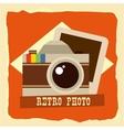 retro photo vector image