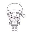 santa claus man kawaii full body cartoon surprised vector image