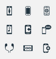 set of simple icons elements worldwide net vector image