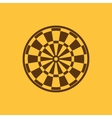 The darts icon Target and Game symbol Flat vector image
