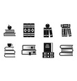 volume of book icon set simple style vector image