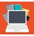 Data center and web hosting design vector image