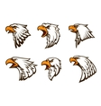 Bald Eagle emblems set vector image
