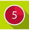 Countdown icon flat style vector image