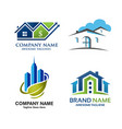 real estate home and property logo set vector image