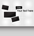 Photo frame for your text vector image vector image