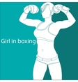 Girl in boxing vector image vector image