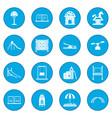 playground icon blue vector image
