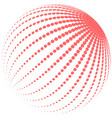 abstract red halftone globe vector image