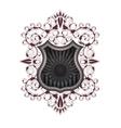 heraldic shield color vector image vector image
